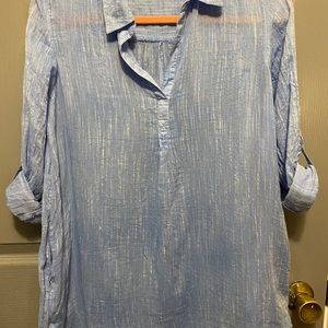 Crown and ivy denim tunic size xs